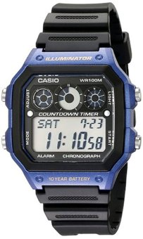 Casio Men's Black Resin Strap Watch AE-1300WH-2AVDF