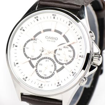 Casio Men's Brown Leather MTP-E303L-7AVDF Watch .