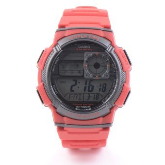 Casio Men's Red Resin Strap Watch AE-1000W-4AVDF