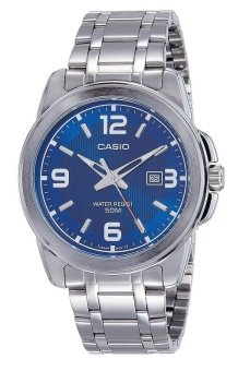 Casio Men's Silver Stainless Steel Band Watch Mtp-1314D-2Avdf