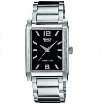 Casio Men's Silver Stainless Steel Strap Watch MTP-1235D-1ADF