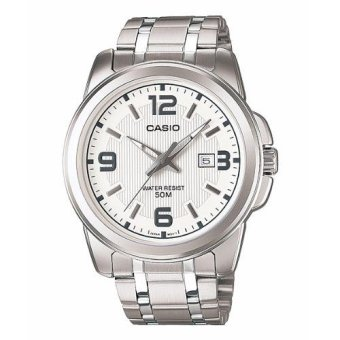 Casio Men's Silver Stainless Steel Strap Watch MTP-1314D-7AVDF