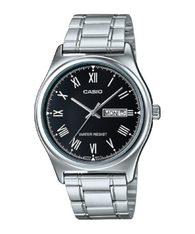 Casio Men's Silver Stainless Steel Strap Watch Mtp-V006D-1B