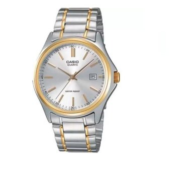 Casio Men's Two-Tone Stainless Steel Strap Watch MTP-1183G-7ADF