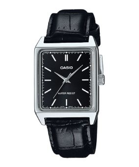 Casio Men's Black Leather Strap Watch MTP-V007L-1E