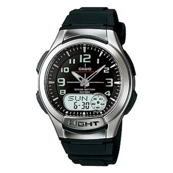 Casio Men's Black Rubber Strap Watch AQ-180W-1BVDF