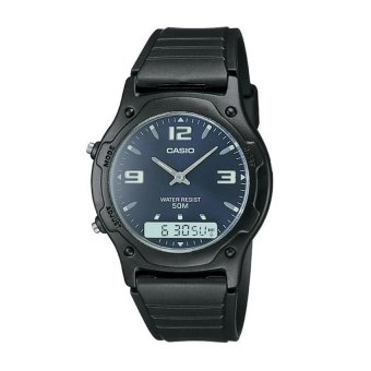 Casio Men's Black Rubber Strap Watch AW-49HE-2AVDF