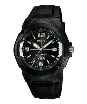 Casio Men's Black Rubber Strap Watch MW-600F-1AVDF
