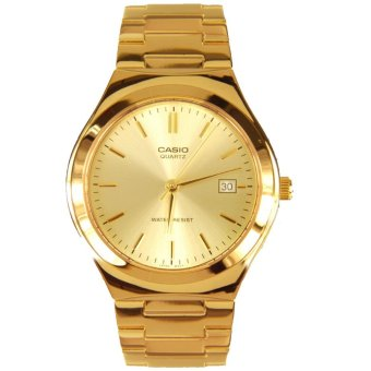 Casio Men's Gold Stainless Steel Strap Watch MTP-1170N-9ARDF