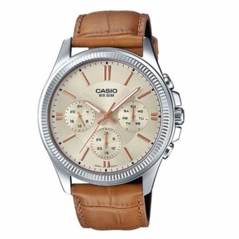 Casio MTP-1375L-9AVDF Men's Brown Leather Strap Watch