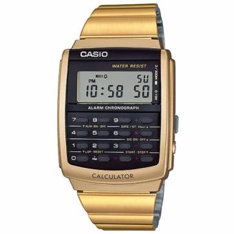 Casio Standard Men's Gold Calculator Watch- CA-506G-9A