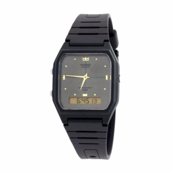 Casio Unisex Classic Black Resin Strap Watch AW-48HE-8AVDF