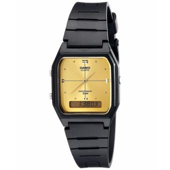 Casio Unisex Classic Black Resin Strap Watch AW-48HE-9AVDF