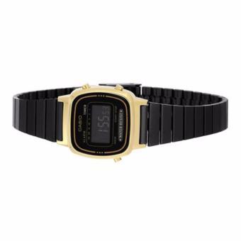 Casio Vintage Black Plated Stainless Steel Watch for Women- LA670WEGB-1B - 3