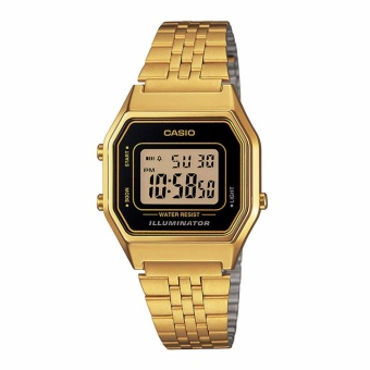 CASIO Vintage LA680WGA-1D9 Stainless-Steel Gold Strap Watch