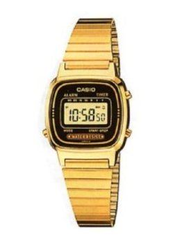 Casio Vintage Women's Gold Stainless Steel Strap Watch LA670WGA-1DF