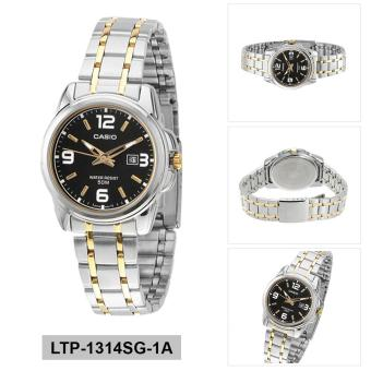 Casio Watch Enticer Multicolored Stainless-Steel Case Two-Tone-Stainless-Steel Bracelet Ladies NWT + Warranty LTP-1314SG-1A - 2