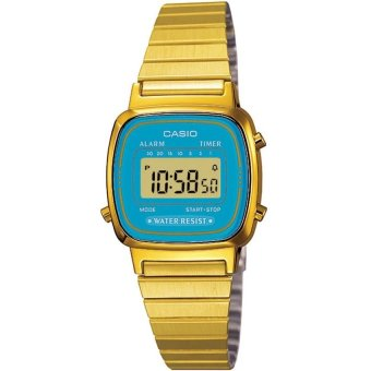 Casio Women's Gold Stainless Steel Strap Watch LA670WGA-2DF