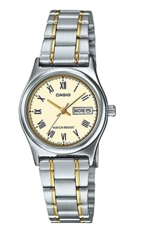 Casio Women's Gold/Silver Stainless Steel Band Watch Ltp-V006Sg-9BVDF