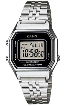 Casio Women's Silver Stainless Steel Strap Watch LA680WA-1DF