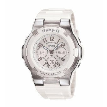 Casio Women's BGA110-7B Baby-G Shock-Resistant White Sport Watch