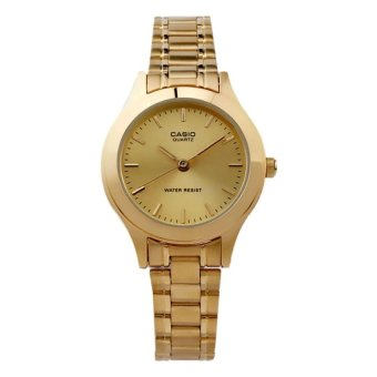 Casio Women's Gold Stainless Steel Strap Watch LTP-1128N-9ARDF