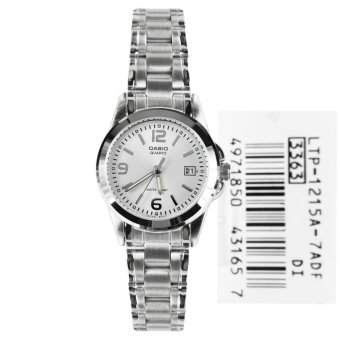 Casio Women's Silver Stainless Steel Strap Watch LTP-1215A-7ADF
