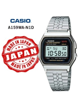 Casio Youth Men's Stainless Steel Strap Watch A159WA-N1D with 1 Year Warranty (T1Y)