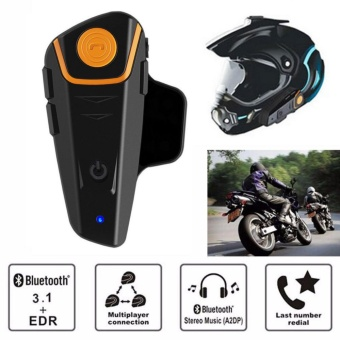 Catwalk BT-S2 1X 1000m Bluetooth Motorcycle Motorbike Helmet Intercom Headset Waterproof - intl