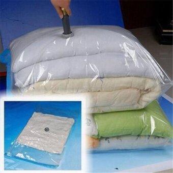 CatWalk Multi-size Vacuum Storage Bag Compressed Bag Space savedseal compression (Clear+Blue) - 4