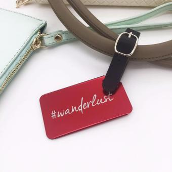 Cava C17MY765RE Wanderlust Aluminum Luggage Tag with PU Strap (Red) - 3