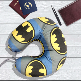 Celebrity Memory Foam Travel Neck Pillow U Shaped Cushion BatmanDesign