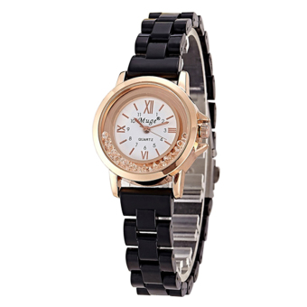 Ceramic Watch Oval Diamond Dial Alloy Waterproof Watch Black Price Philippines