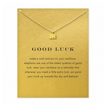Charm Elegant Lady Fashion Elephants Pendant Sweater Chain Lucky Necklace Silver - intl