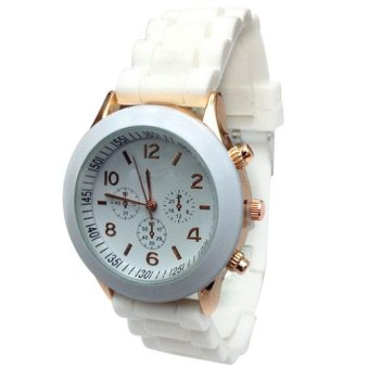 Cheap Silicone Band Quartz Jelly Wrist Watches For Women/Ladies/Girls A - intl
