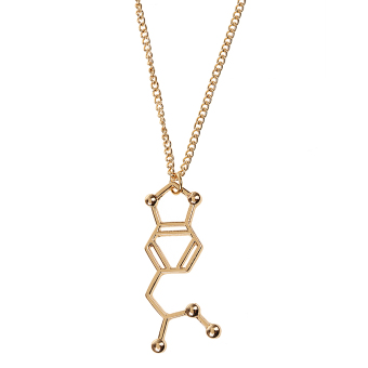 Chemical Molecular Formula Science Pendant Necklace Jewelry Gift Nerd-Gold# - intl Price Philippines
