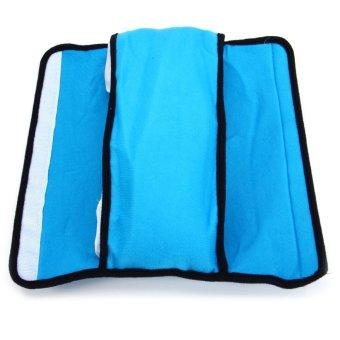 Children Car Soft Headrest Cushion Neck Pillow Shoulder Pad VehicleSeatbelt Blue- Intl - 4