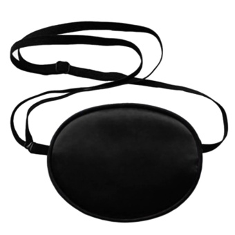 Children Silk Eye Patch Cosplay Eye Cover Mask Shield Blindfold forLazy Eye Amblyopia Strabismus Kids Black - intl