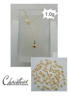 Christha's House Of Gold & Diamond Noreen Chain Necklace N Dainty Heart Pendant Saudi Gold 18K
