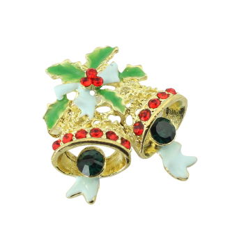 Christmas bells brooch(gold) (Intl)