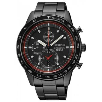 Chronograph Black Dial Watch(SNDD89P1) - intl
