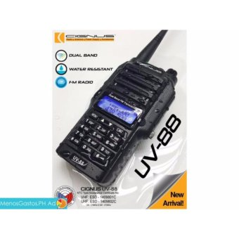 Cignus UV-88 NTC APPROVED splash proof water resistant two way radio (Black)