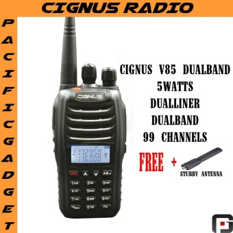 Cignus v85 vhf/uhf dual band two way radio with fm 2years warranty