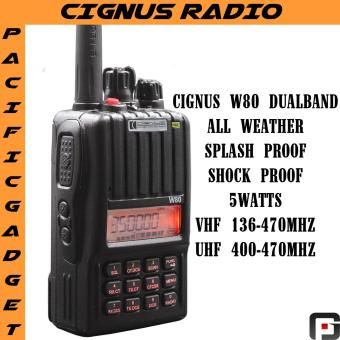Cignus w80 dualband all weather two way radio 2years warranty (Black)