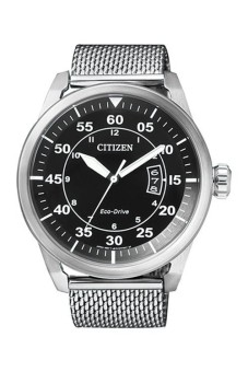 Citizen Men's Eco Drive Aviator Stainless Steel Analog Watch AW1360-55E - intl