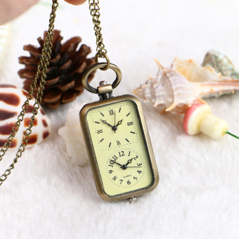 Classic double movement nurse student Pocket watch necklace table