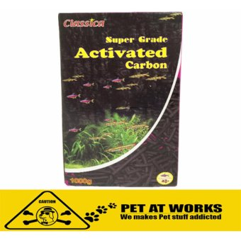 Classica Super Grade Activated Carbon Filter (1000g) for fish pond,aquarium tank, marine tank, planted tank