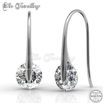 Classy Earrings (White Gold) - Crystals from Swarovski