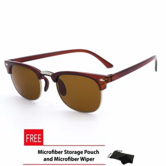 Clubmaster Classic Square_7728 Sunglasses Brown Flash Lense_1 Price Philippines