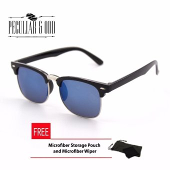 Clubmaster Classic Sunglasses with Blue Flash Lenses R_3398